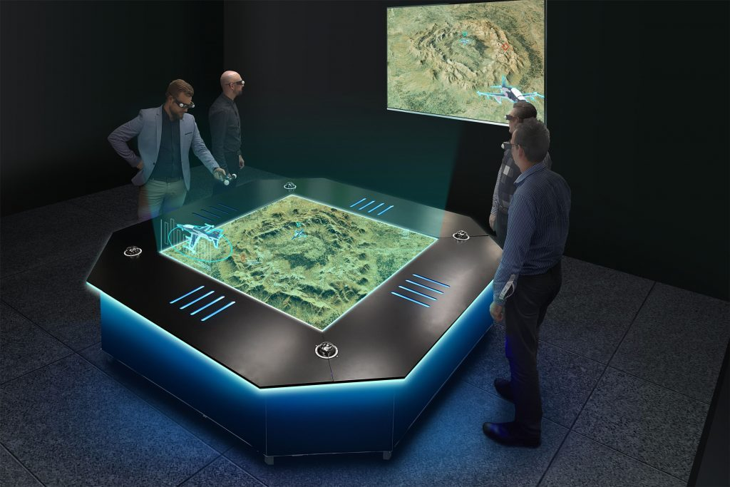 Hologram Tables used for asset tracking and data management