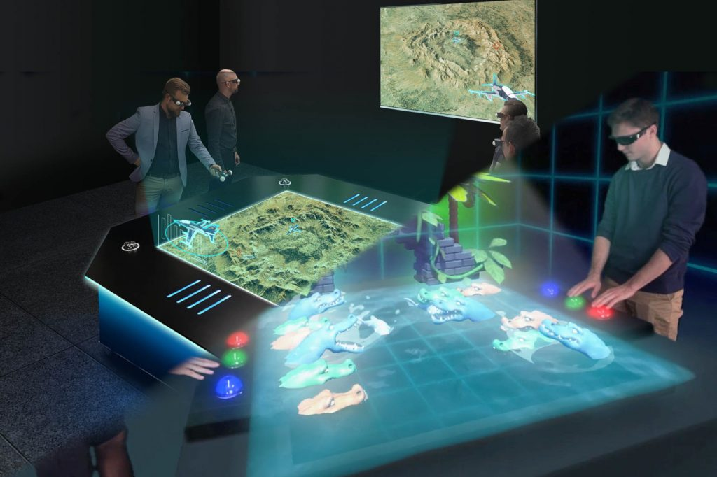 hologram tables for business and gaming