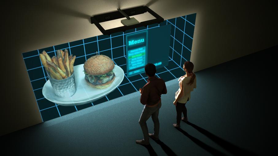 Hologram Walls in restaurants